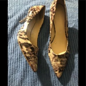 Animal print pumps by 9 West